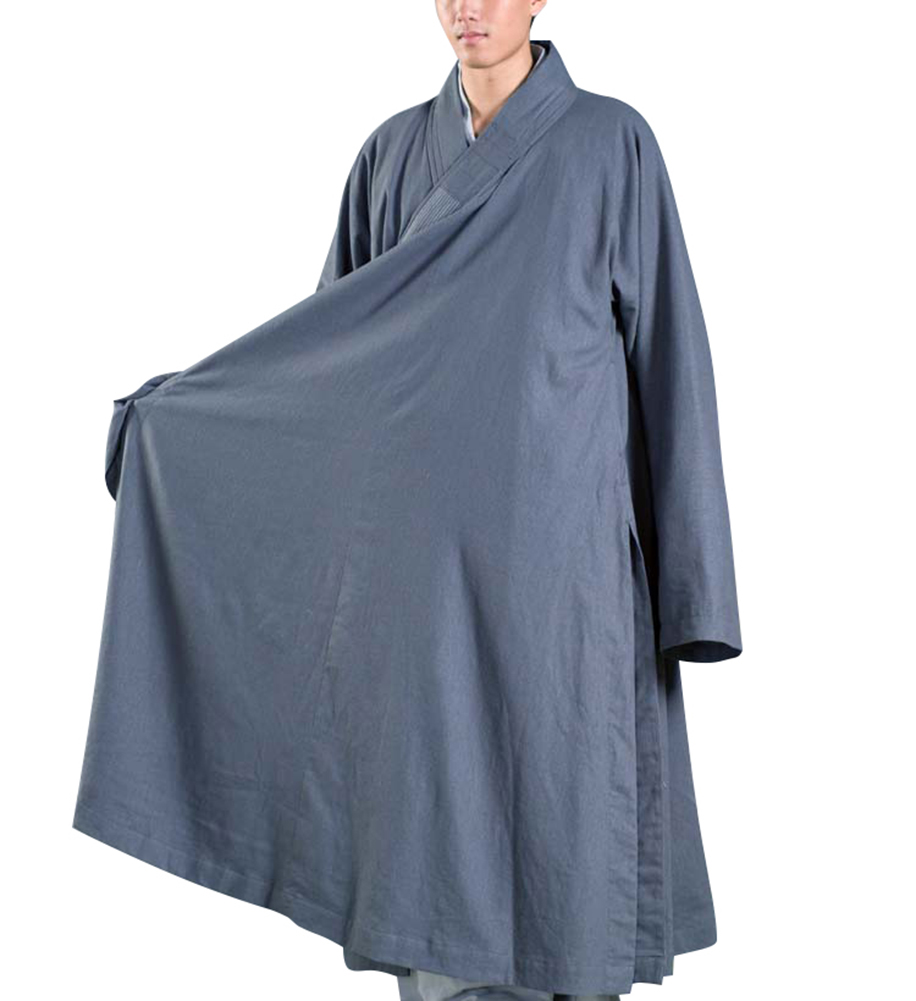ZanYing Férfi szürke ruha Buddhista Meditation Monk Outfit Plus - Nemzeti ruhák