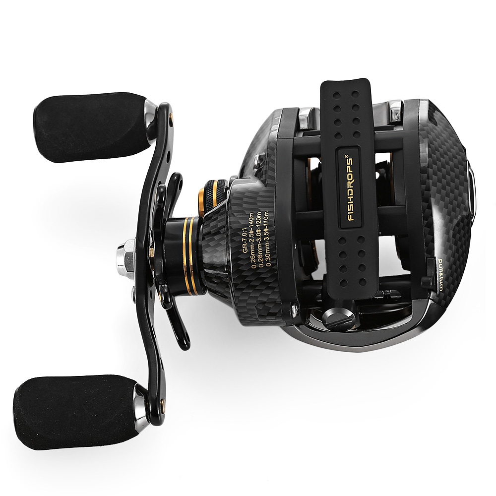 Fishdrops LB200 Fishing Reel 7.0:1 Bait Casting Reels Left Right Hand Fishing One Way Clutch Baitcasting Reel Hot Sale ts1200 fishing reels right left hand bait casting fishing reel lure reel pro 14 ball bearings fishing gear water drop wheel