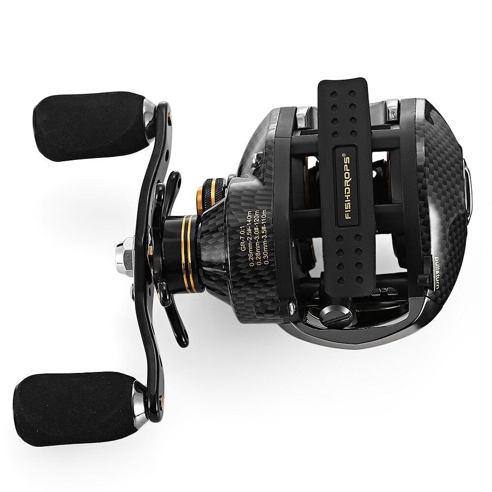 Fishdrops LB200 Fishing Reel 7.0:1 Bait Casting Reels Left Right Hand Fishing One Way Clutch Baitcasting Reel Hot Sale