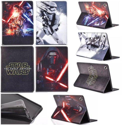 HOT! New Star Wars Slim Folio PU Leather TPU Cover Case Stand for ipad 2 3 4 Various Tablet 1pc