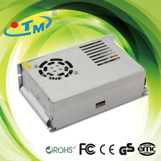 IP20 250W-12V LED switching power supply constant voltage of 12V small paragraph ordinary transformer driver with fan--2pcs/lot