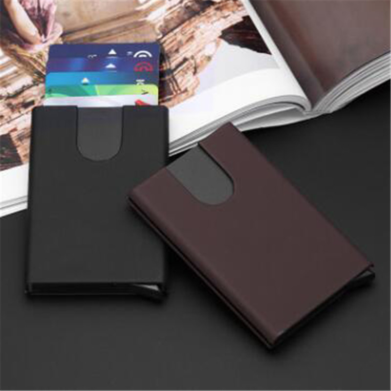 BISI GORO 2020 New Metal RFID Wallet Holder Fashion Credit Card Holder High Quality Wallet For Men And Women Unisex Holders