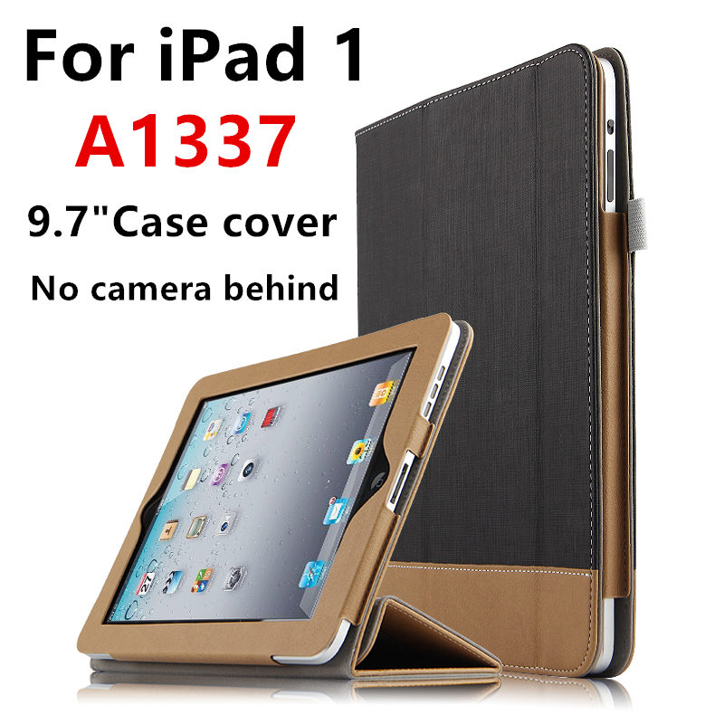 Case For iPad 1 one First generation Protective Smart Cover Protector Leather PU Tablet For iPad1 A1337 A1219 Sleeve No camera