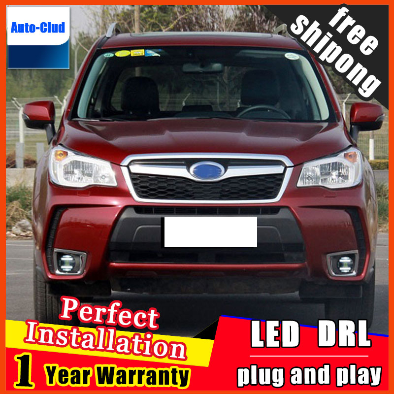 Car-styling LED fog light for Subaru Forester 2013-2015 LED Fog lamp with lens and LED day time running ligh for car 2 function window wind deflector visor rain sun guard vent for subaru forester 2013 2014