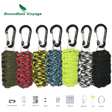 Boundless Voyage Outdoor Survival First Aid Kit Paracord Field Emergency Self help Box Camping Climbing Fishing