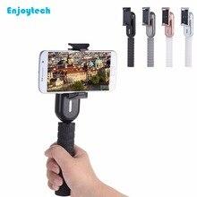 New Handheld Gimbal Outdoor portable Selfie Stick with Mirror Stabilizer Powerbank for action cameras iPhone Xiaomi Smartphones