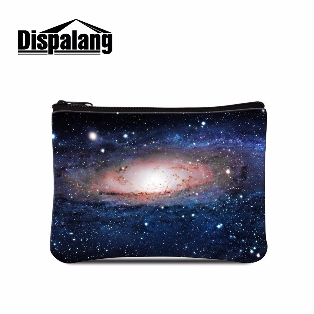 585a784fe7d5 US $5.41 33% OFF|Dispalang supreme universe space star print women coin  purses travel cosmetic pouch bag portable storage makeup organizer bag-in  Coin ...