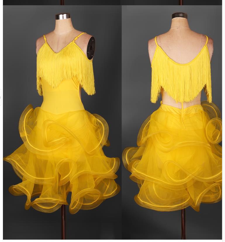 Latin Dance Dress Tango Dress Dance Costumes for Latin Samba Chacha Modern Jazz Competition Wear Ballroom Dj Ds One Piece