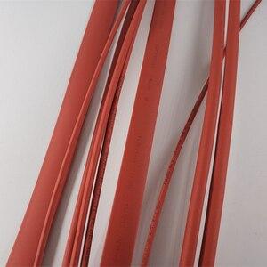 1 m/partia 2:1 czerwone lampy halogenowe darmowa termiczna termokurczliwa rurka 5mm, 6mm, 8mm, 10mm, termokurczliwe Heatshrink rury