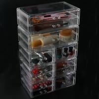 Home 4 Drawer Big Clear Lipstick Storage Box Acrylic Transparent Acrylic Makeup Cosmetic Makeup Organizer Jewelry Organizer