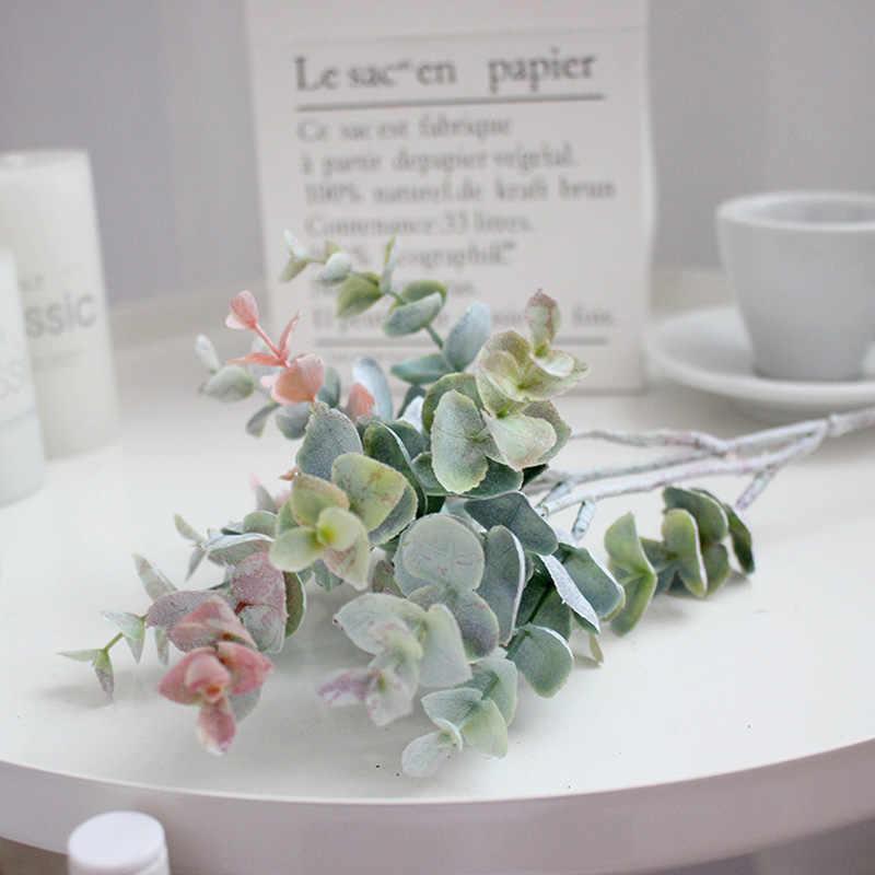 40cm 35cm faux feuilles d'eucalyptus plantes artificielles faux arbre branche faux feuilles tropicales pour mariage décoration de fête à la maison