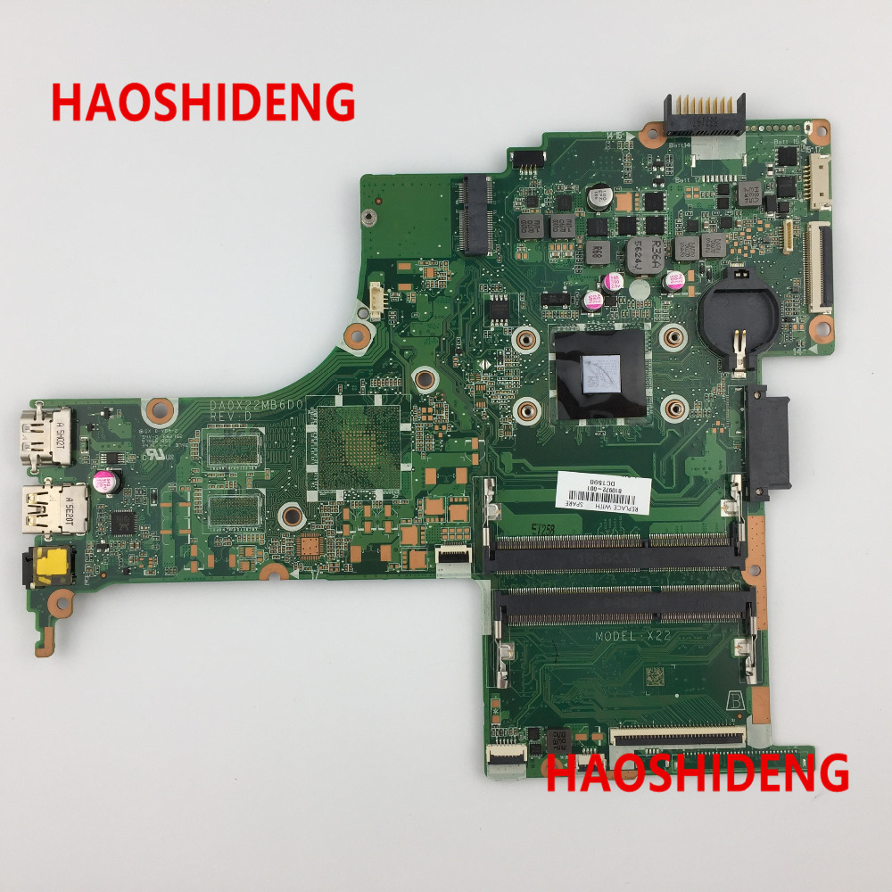 Free Shipping,810972-001 DA0X22MB6D0 X22 for HP Pavilion Notebook 14-ab series  motherboard with A8-7410 CPU.All fully Tested ! free shipping 720266 001 motherboard for hp pavilion 17 j notebook pc 740m 2g