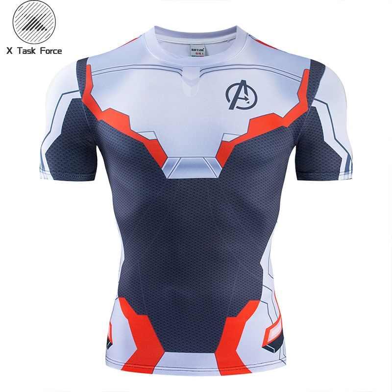 アベンジャーズ Endgame 量子領域コスプレ 3D プリント Tシャツユニセックス圧縮フィットネス速乾 tシャツ夏スーパーヒーロー Tシャツ