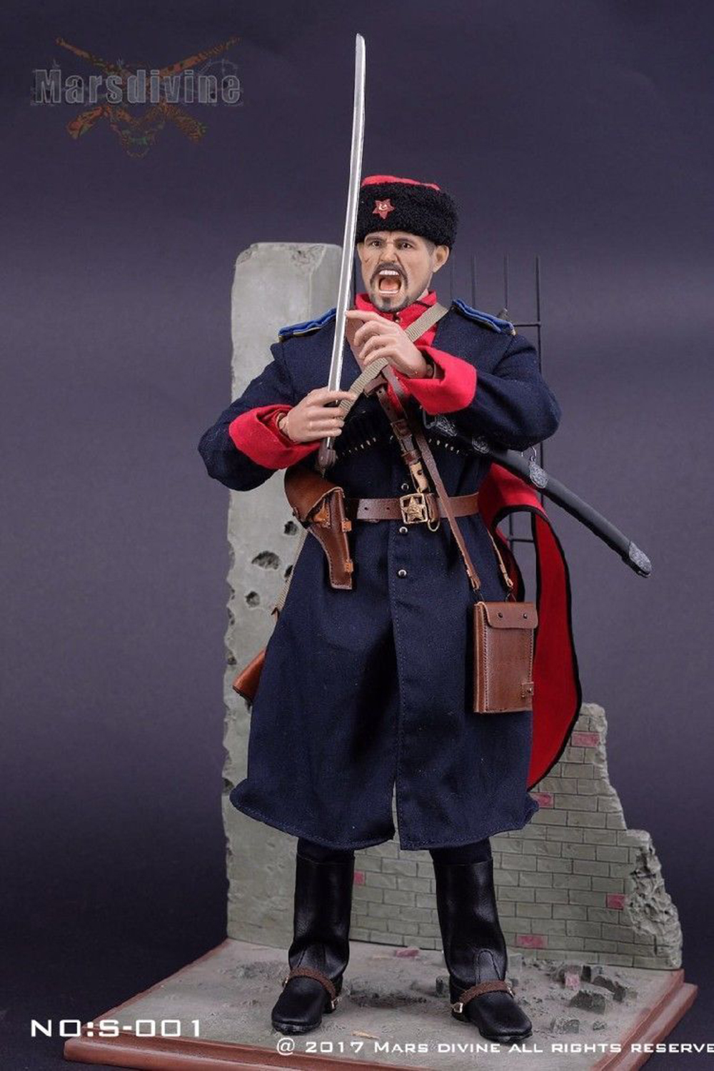 """Marsdivine 1//6 Scale WWII Soviet Cossack Cavalry Red Scarf For 12/"""" Action Figure"""