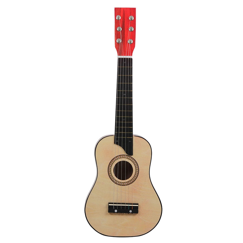 Irin Mini 25 Inch Basswood Acoustic 12 Frets 6 Strings Guitar With Pick And Strings For Children Wood Color