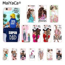MaiYaCa, черный, коричневый цвет, волосы для мамы, дочки, папы, высокое качество, чехол для телефона, для iPhone 8, 7, 6, 6S Plus, X, XS, MAX, 5, 5S, SE, XR, 10, чехол