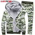 LONMMY Winter Tracksuits Hooded Fleece Male thick Hoodies Men Suits Jacket Pants+Sweatshirt Set hoodie mens clothes