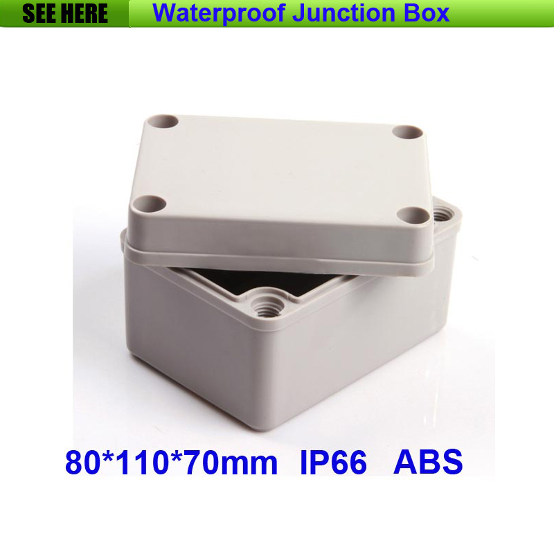 Lighting Accessories 100% Quality 80*110*70mm Ip66 Transparent Cover Electronic Plastic Enclosure Abs Pc Clear Cover Box Junction Box Project Box