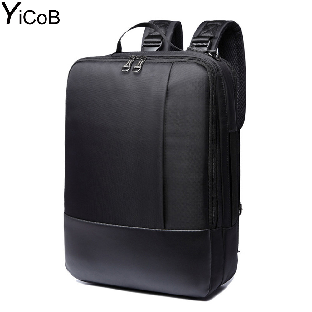 YiCoB Backpack Multifunction Bags Business Travel Men Women Waterproof Nylon Rucksacks for Laptop Colleges School Bag Zipper HOT protector plus 25l waterproof nylon backpacks military backpack double shoulder multifunction women bag men travel backpack