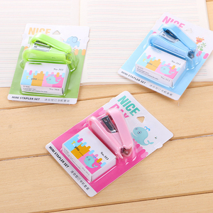Creative Colored 12# Mini Stapler Staples Set Kawaii Office Stationery Paper Cute School Supplies Students Gifts Lovely Things