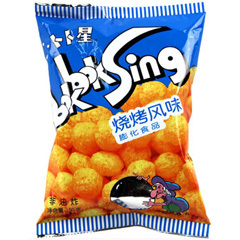 Chinese food,Barbecue flavor , Snack ,50grams 1 bag, Food chinese food 520grams 1 bag food snack rice cake