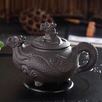 400ml chinese kongfu ceramic dragon teapot authentic handmade Purple Clay Teapot Gift