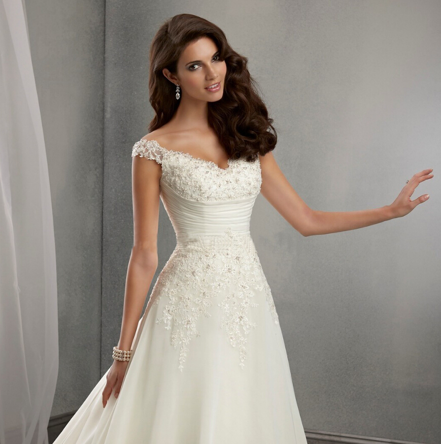 Vestido De Noiva Beach Wedding Dress Casamento A line Cap Sleeves ...