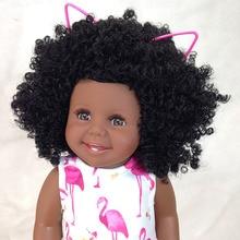 """Muñeca negra africana americana para bebés 18 """"45cm cuerpo de vinilo completo silicona reborn baby l. o l muñecas niño bebe regalo reborn menina"""