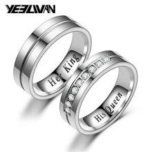 dc1e9faf9 Nueva de titanio pareja romántica anillo