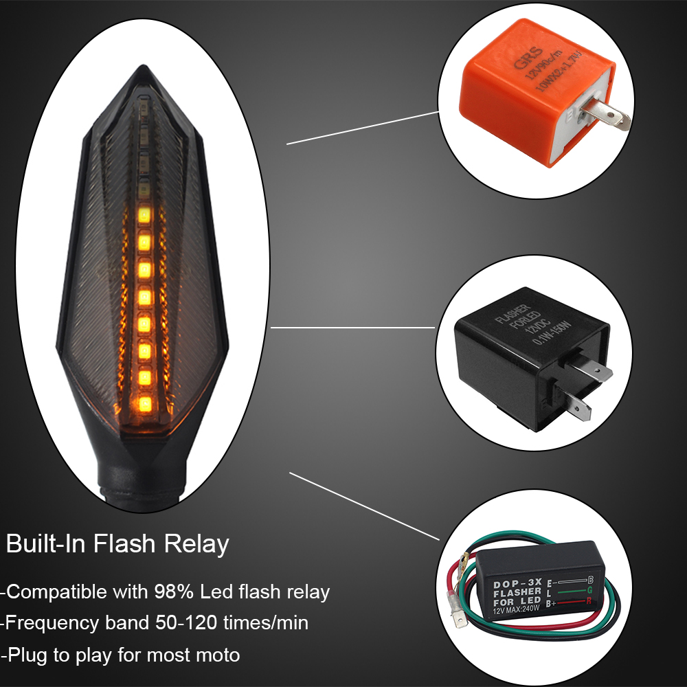 New Motorcycle Modified Turn Signals Waterproof Turn Lights Led Direction Lamp Decorative Motocross Lights Daytime Lamp