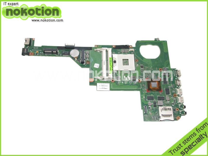 NOKOTION Laptop motherboard For Hp Pavilion dv4-5000 Intel hm77 DDR3 NVDIA GeForce GT630M 1GB graphics 676759-001 nokotion laptop motherboard for hp pavilion dv3 intel pm45 ddr2 with nvdia graphics kjw10 la 4735p 576795 001