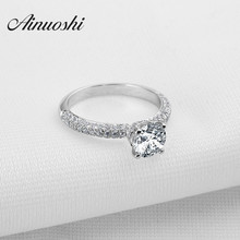 NEW Design Fashion Jewelry Luxury Women Engagement Ring 925 Sterling Silver Crown Lover Band 1 ct High Quality Women Ring