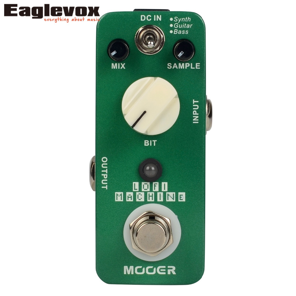 Mooer Lofi Machine Sample Reducing Electric Guitar Effects Pedal True Bypass mooer ensemble queen bass chorus effect pedal mini guitar effects true bypass with free connector and footswitch topper