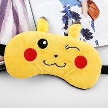 Cute Funny Pikachu Ice EyeShade Sleeping Eye Mask Travel Rest Aid Eye Masks Cover Eye Patch Breathable Eyeshade Sleep Blackout