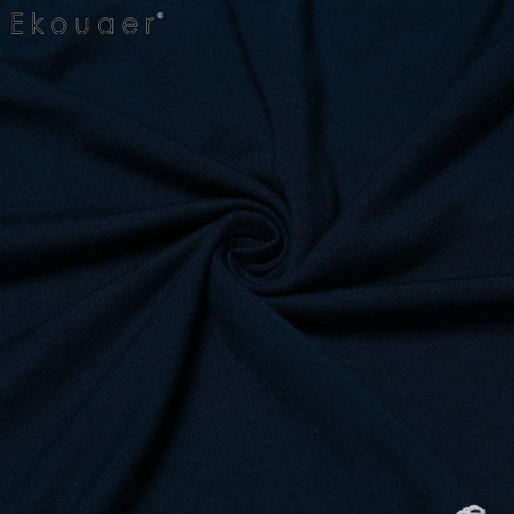 Ekouaer Women Sleep Bottom Pants Nightwear Soft Lace Trim Elastic Waist Plus Female Pajamas Short Pants Sleepwear Plus Size 5