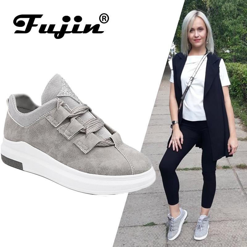 Fujin Brand 2019 Ladies Shoes Platform Shoes Sneakers Women Autumn Shoes  For Women Flats Lace Up Breathable Sport Casual #2