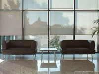 Translucent Sun Screen Roller Blinds in Light Yellow 35% Polyester 65% PVC Window Curtain for Kitchen Balcony