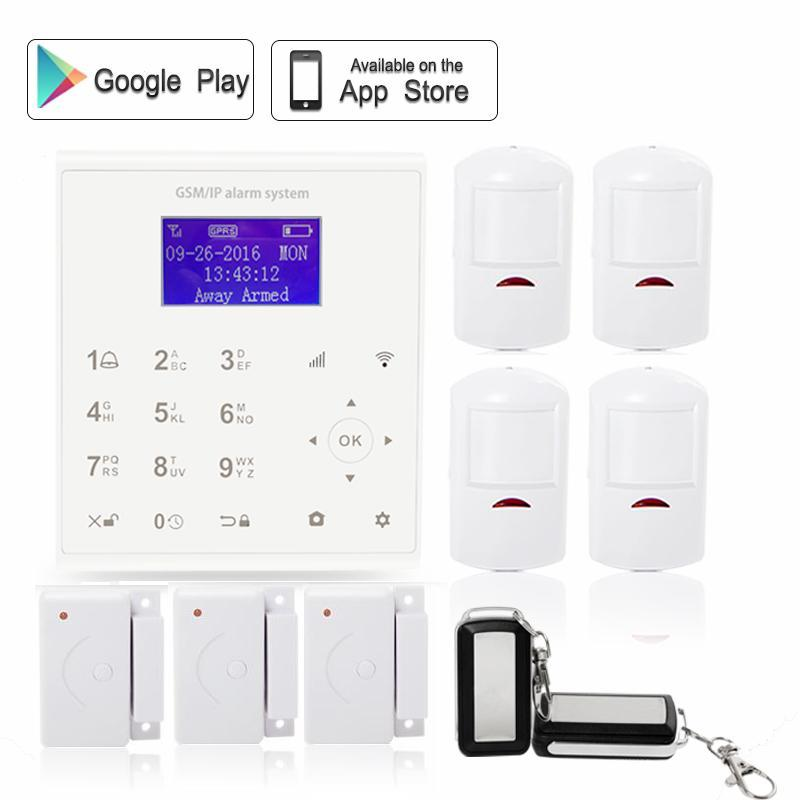 433mhz Wireless quad band GPRS 2.4G wifi alarm system gsm sms autodail house anti-burglar security kit Android/IOS APP control sim800 quad band add on development board gsm gprs mms sms stm32 for uno exceed sim900a unvsim800 expansion board