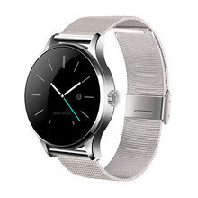 Round Bluetooth Smart Watch Classic Health Metal Smartwatch with Heart Rate Monitor for Android ISO Phone