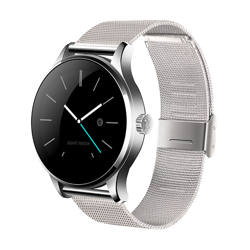 Round Bluetooth Smart Watch Classic Health Metal font b Smartwatch b font with Heart Rate Monitor