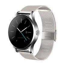 Runde Bluetooth Smart Watch Klassische Gesundheit Metall Smartwatch mit Pulsmesser für Android ISO Phone Remote Kamera Uhr