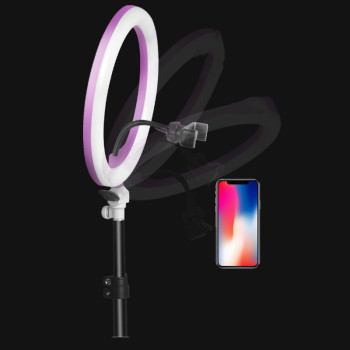 SITOOSHE LED Light Camera Photo/Studio/Video Ring Light 3200K-5500K Photography Dimmable Ring Lamp for Iphone/Samsung/Xiaomi