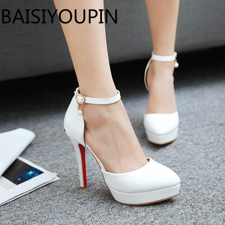 Apricot White Women Wedding Shoes High