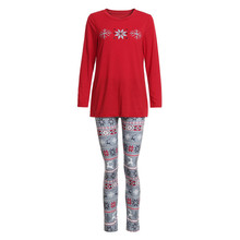 2PCS Christmas Women Mom Snowflake Print Top+Pants Family Clothes Pajamas  Mulher De Pijama Pyjamas 38e0ee60a