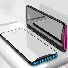 Tempered Glass Case for OPPO Find X Hard Back Cover for OPPO FindX Soft Silicone Bumper On For OPPO Find X Case + 3D Glass Film luxury lifting upper full protection cover for oppo find x with airbag holder camera hard back case for oppo find x case funda