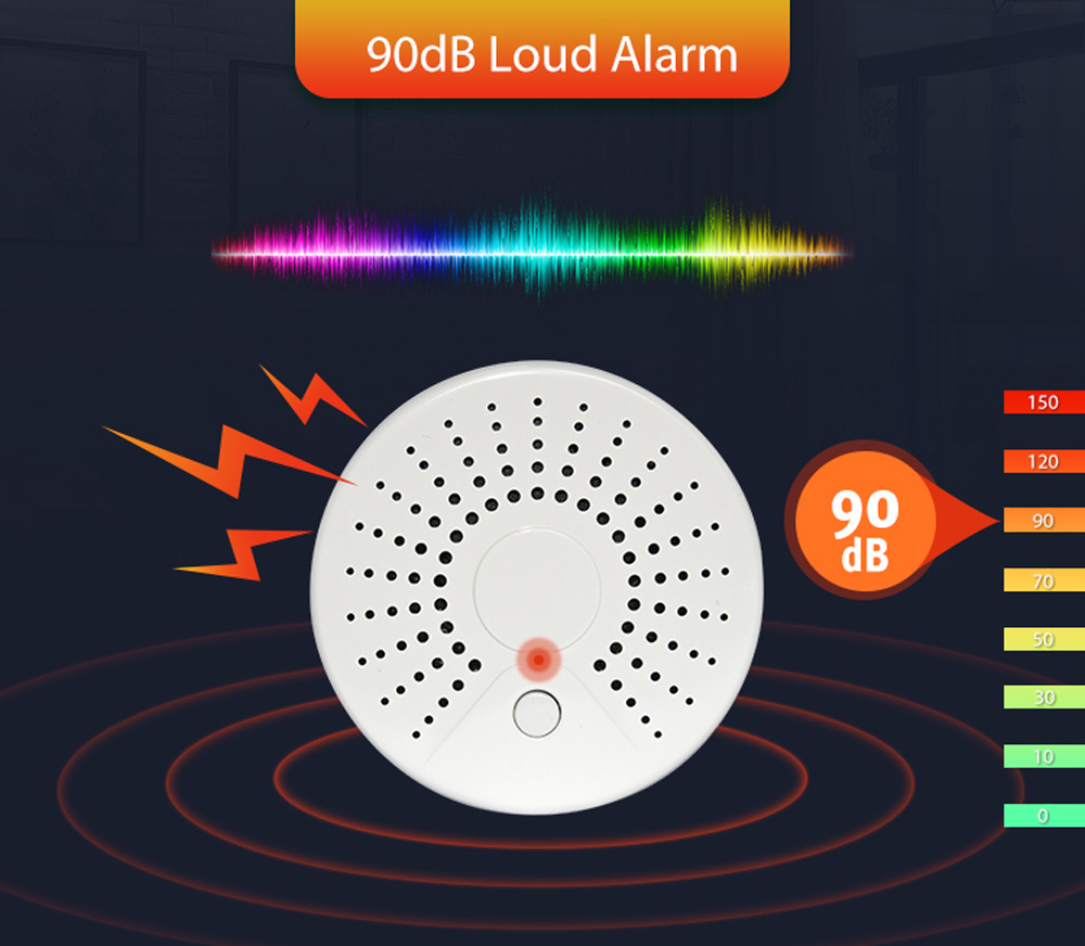 Image 5 - Smart Wireless WiFi Smoke Detector Alarm Sensor Battery Power Via iOS Android APP Notification No HUB RequirementSmoke Detector   -