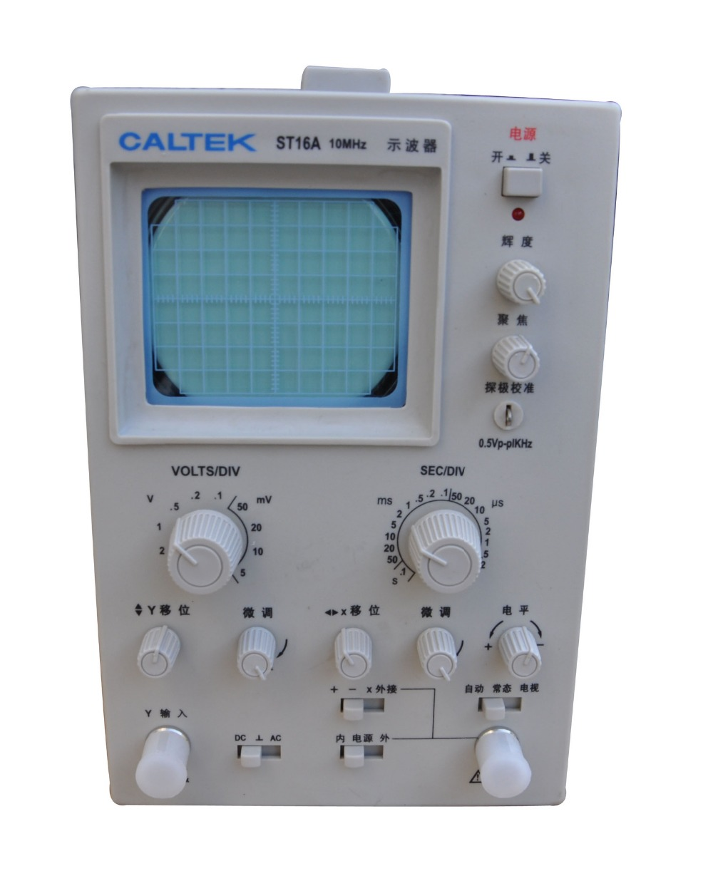 Fast arrival Caltek ST16A small single-channel <font><b>oscilloscope</b></font> <font><b>10MHz</b></font> image