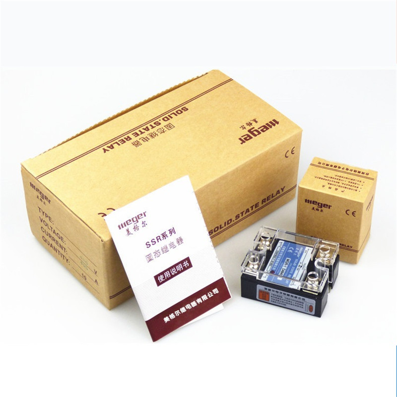 2pcs/lot SSR Single Phase Solid State Relay 60A 24V DC Control DC  MGR-1 DD220D60 ssr mgr 1 d4860 meike er normally open type single phase solid state relay 60a dc ac