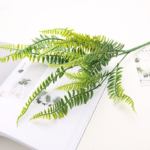 Simulation Adornment Grass Green Plant Pot Row Fern Leaf Persian Leaves Wall Hanging Home Decoration 2019 Hot Sale