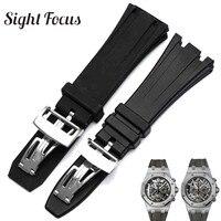 26mm 28mm High Quality Watch Band for Audemars Piguet Watch Strap for AP Royal Oak Belt Black Replacement Straps Sport Bracelet